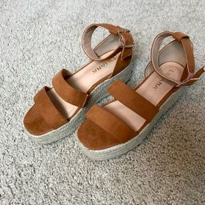 Liliana brown wedge heel